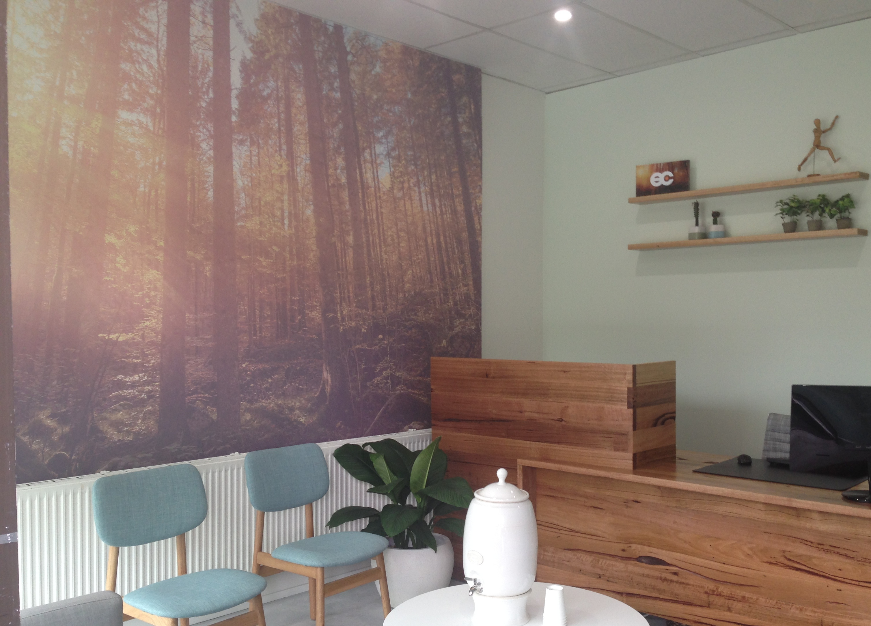 Reception at Everything's Connected Osteopathy