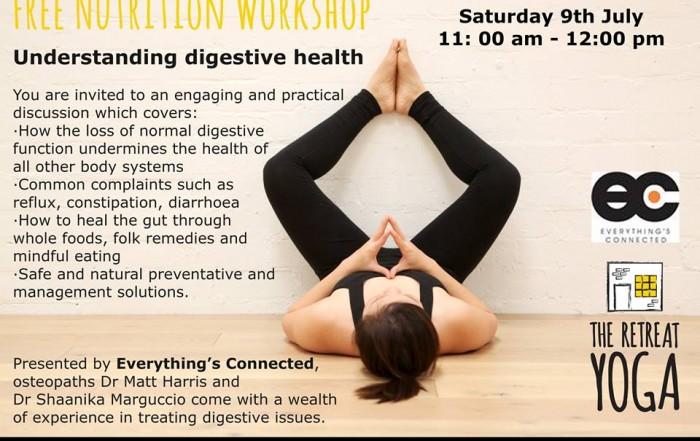 Digestive health workshop flyer