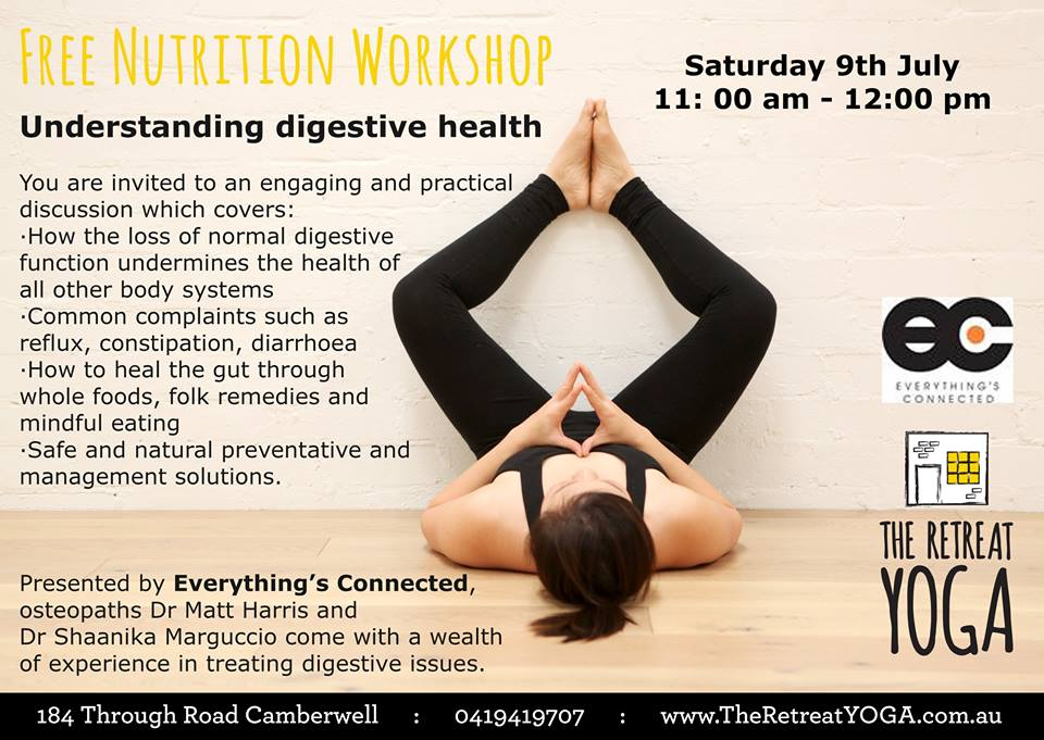 Digestive health workshop flyer