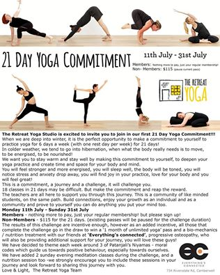21 day yoga challenge  digestive health workshop